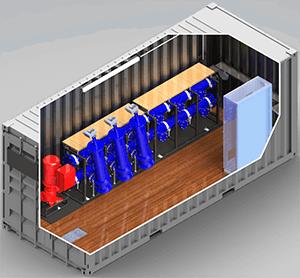 Filteraggregat in einem 20'-Container
