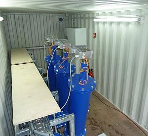 Filter aggregate in a 20'-Container